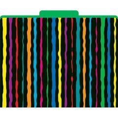Neon Stripes File Folders Set of 12