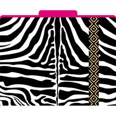 Africa - Zebra File Folders Set of 12