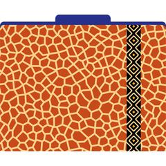 Africa - Giraffe File Folders Set of 12