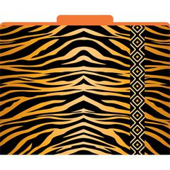 Africa - Tiger File Folders Set of 12