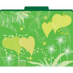 Barker Creek Go Green File Folders Set of 12