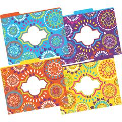 Moroccan File Folders, Multi-Design Set of 12