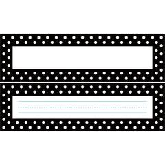 Black & White Dot Desk Tag Set of 36