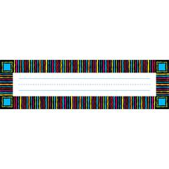Barker Creek Neon Stripes Desk Tag Set of 36