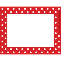 Red & White Dot Name Tags/Self-Adhesive Labels Set of 45