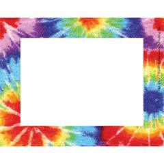 Barker Creek Tie-Dye Name Tags/Self-Adhesive Labels   Set of 45