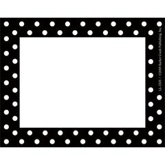 Black & White Dot Name Tags/Self-Adhesive Labels Set of 45