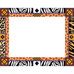 Africa Name Tags/Self-Adhesive Labels Set of 45