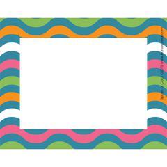 Barker Creek Splash of Color Wave Name Tags/Self-Adhesive Labels  Set of 45