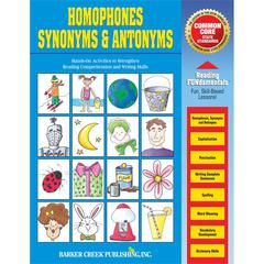 Barker Creek Homonyms, Synonyms & Antonyms Activity Book