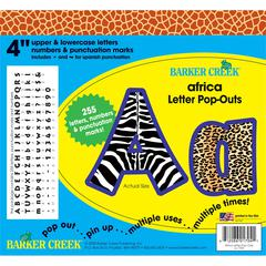 "Barker Creek Africa 4"" Letter Pop-Outs (245 Characters)"