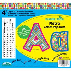 "Retro 4"" Letter Pop-Outs (245 Characters)"