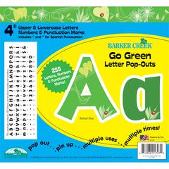 "Go Green 4"" Letter Pop-Outs (245 Characters)"