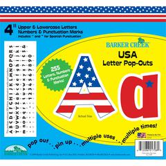 "USA 4"" Letter Pop-Outs (245 Characters)"
