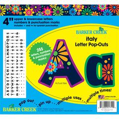 "Barker Creek Italy 4"" Letter Pop-Outs (245 Characters)"