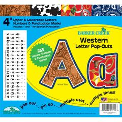 "Barker Creek Western 4"" Letter Pop-Outs (255 Characters)"