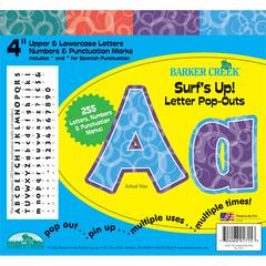 "Barker Creek Surf's Up 4"" Letter Pop-Outs (245 Characters)"