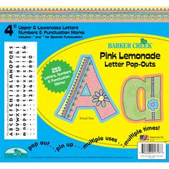 "Barker Creek 4"" Letter Pop-Outs - Pink Lemonade (255 Characters)"