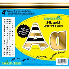 "4"" Letter Pop-Outs - 24k Gold (255 Characters)"