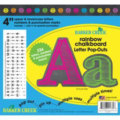 "Barker Creek 4"" Letter Pop-Outs - Rainbow Chalk (234 Characters)"
