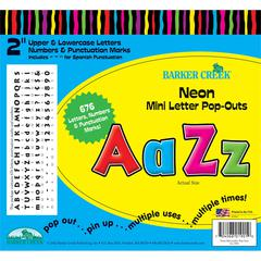 "Neon Mini 2"" Letter Pop-Outs (676 Characters)"