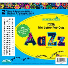 "Barker Creek Italy Mini 2"" Letter Pop-Outs (676 Characters)"