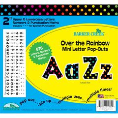 "Over the Rainbow Mini 2"" Letter Pop-Outs (676 Characters)"