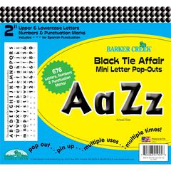 "Barker Creek 2"" Letter Pop-Outs - Black Tie Affair (676 Characters)"