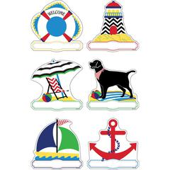 Barker Creek Double-Sided Accents - Chevron Nautical  Set of 36