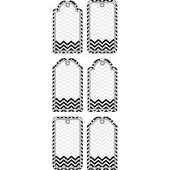 Double-Sided Accents - Chevron Black & White Set of 36