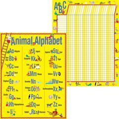 Barker Creek ABC Animals Chart Set of 3