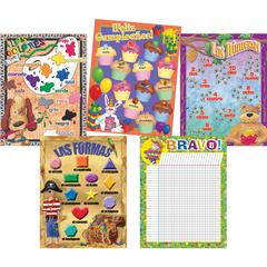 Barker Creek Spanish Chart Pack - Set of Five Spanish Charts