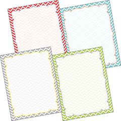 Chevron - Beautiful Border Chart Set of 4