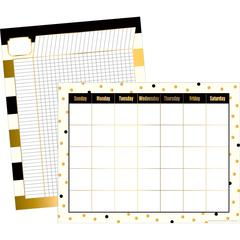 Gold Chart Set of 2