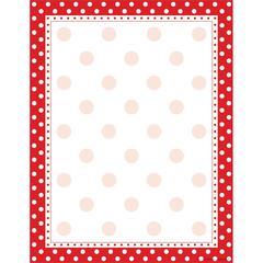 Barker Creek Red & White Dot Paper 50 Sheets