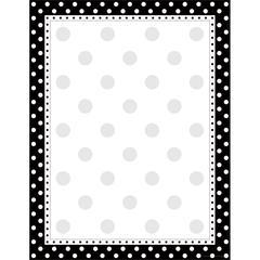 Black & White Dot Paper 50 Sheets