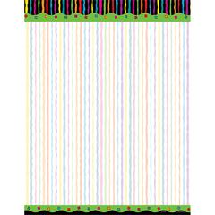 Barker Creek Neon Stripe Paper 50 Sheets