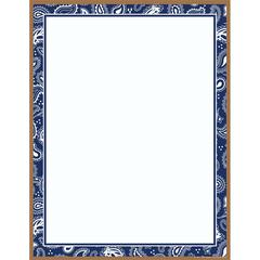 Barker Creek Blue Bandana Paper 50 Sheets