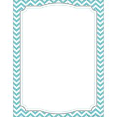 Computer Paper - Turquoise Chevron 50 Sheets