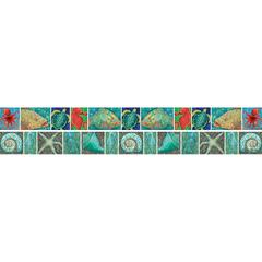 Barker Creek Double-Sided Trim Surf's Up Coral Reef (35 Feet)