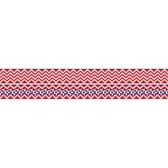 Double-Sided Border - Chevron Red (35 Feet)