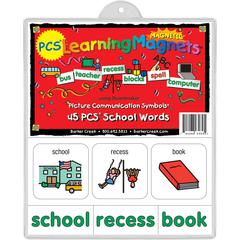 PCS Learning Magnets — Set of 45 School Words
