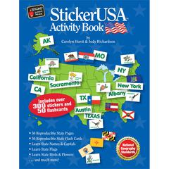 Barker Creek StickerUSA Activity Book with CD