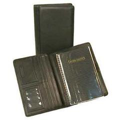 Black Japanese Drum Dyed Leather Desk Agenda Case Organizer