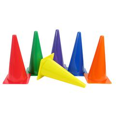 RIGID PLASTIC CONES 15IN SET OF 6