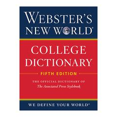 HOUGHTON MIFFLIN WEBSTERS NEW WORLD COLLEGE DICTIONARY