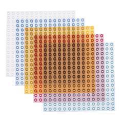 ALEX BY PANLINE USA PRISM BASES 4-PK 9X9 POLYBAG W/ HEADER