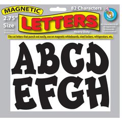 2 3/4IN BLACK MODERN HIP DESIGNER MAGNETIC LETTERS