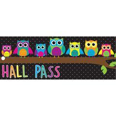 LAMINATED OWLS HALL PASS