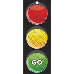 Traffic Light Card Stop Go 3X9, Laminated